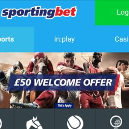 Sportingbet app on Android